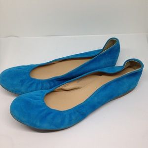 J. Crew Cece Ballet Flat Suede Leather 8.5 Italy